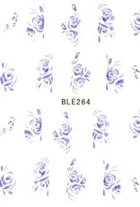 Waterdecal Roos Blauw
