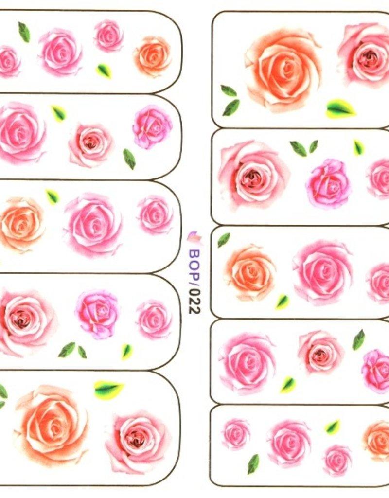 Waterdecal Rose Pink/Orange