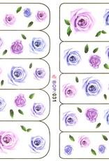 Waterdecal Roos Blauw/Paars