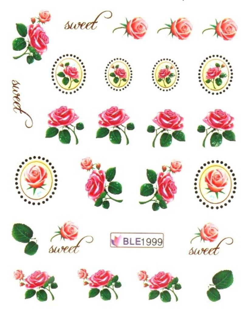Waterdecal Rose-Sweet