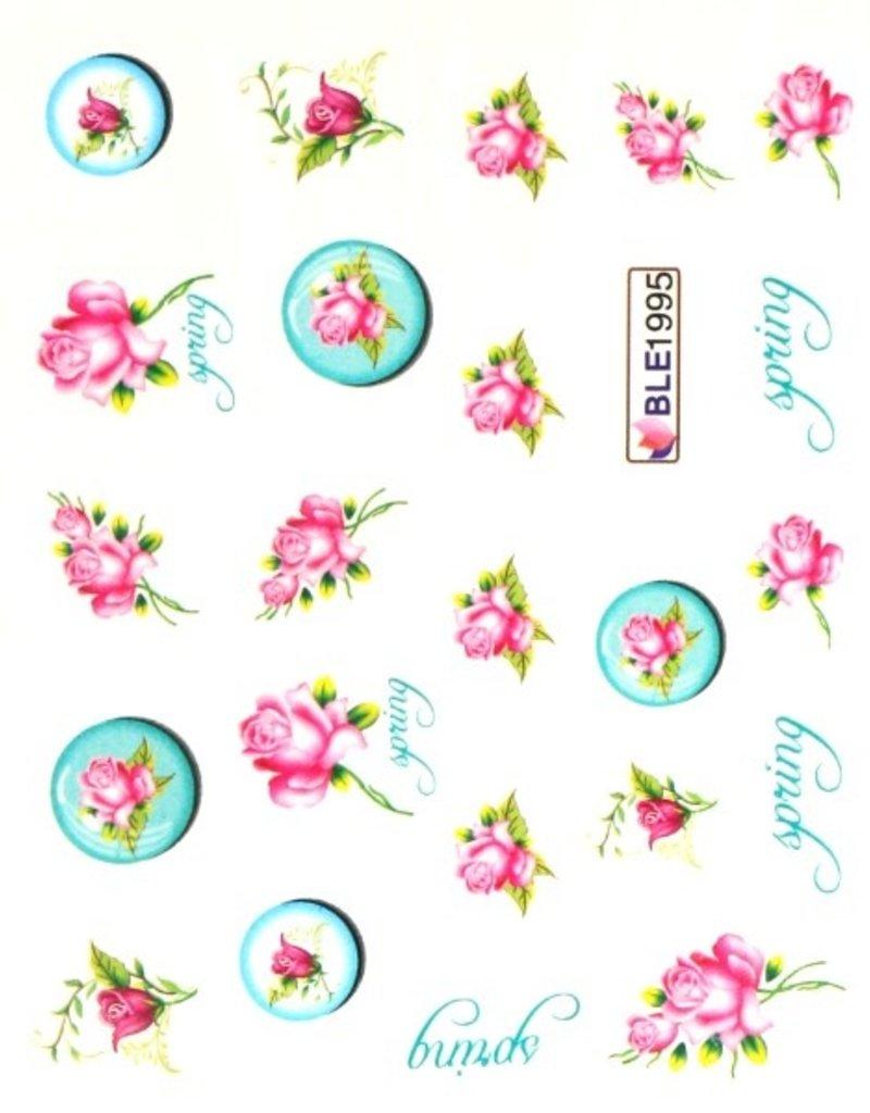 Waterdecal Roos-Spring