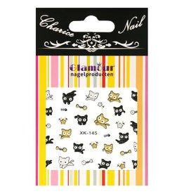 3D Sticker Glitter Kitten