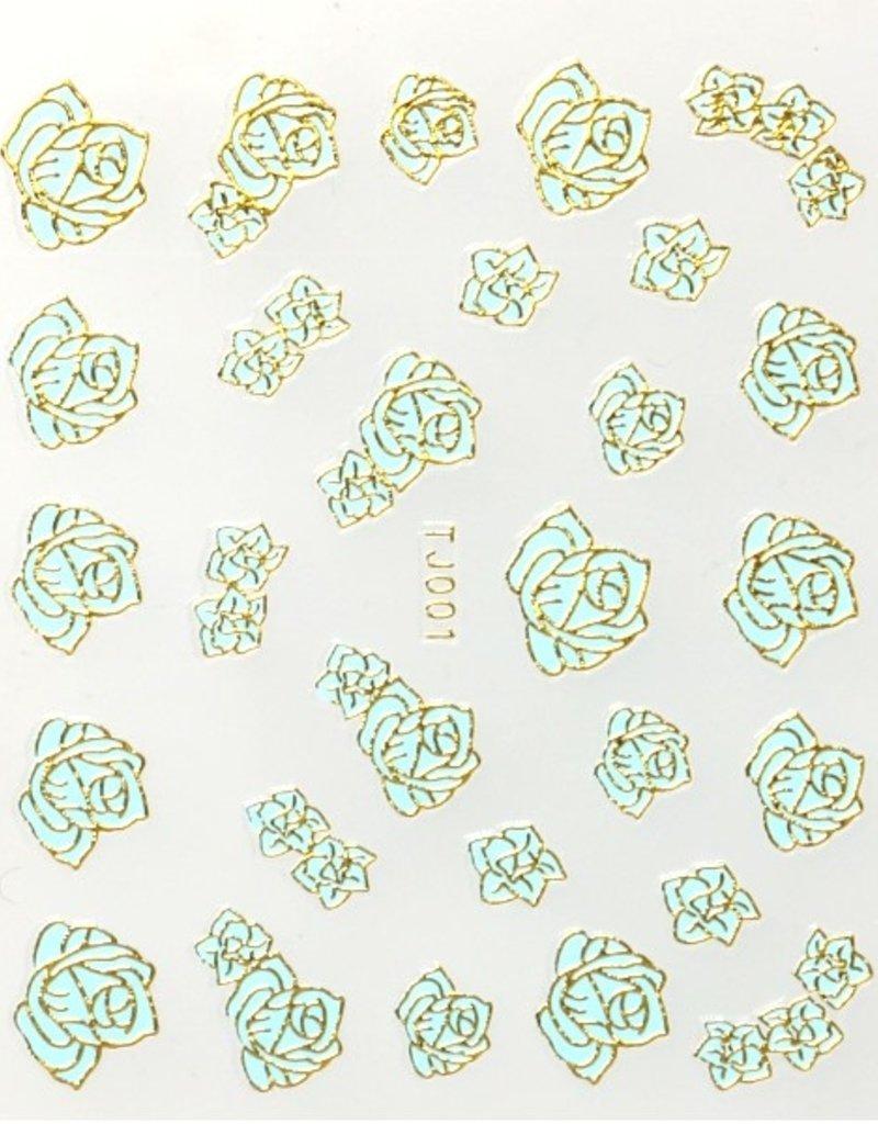 3D Sticker Rose Green