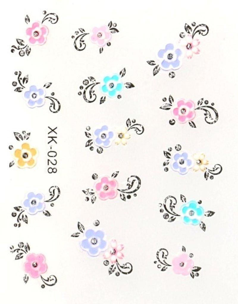 3D Sticker Swirl/Flower
