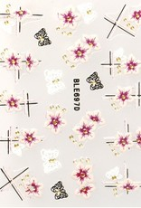 3D Sticker Flower Stripes
