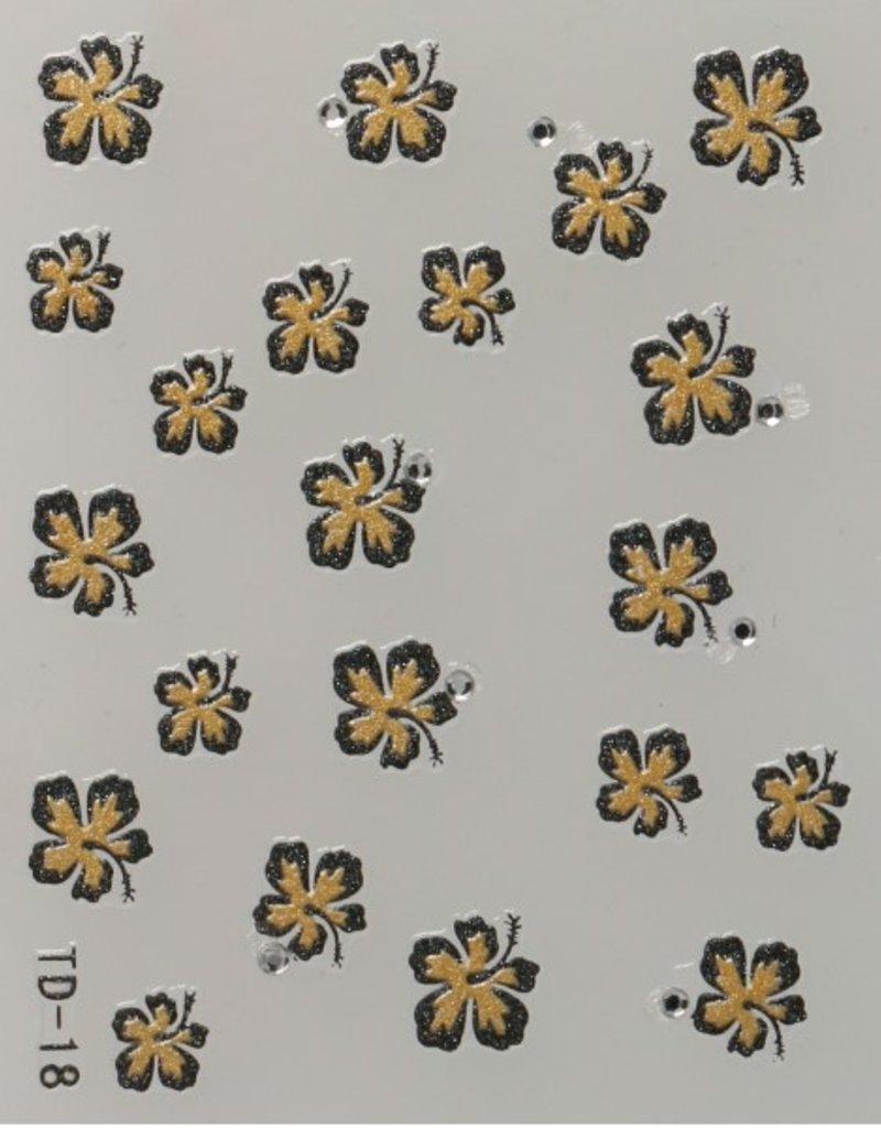 3D Sticker Gold/Black
