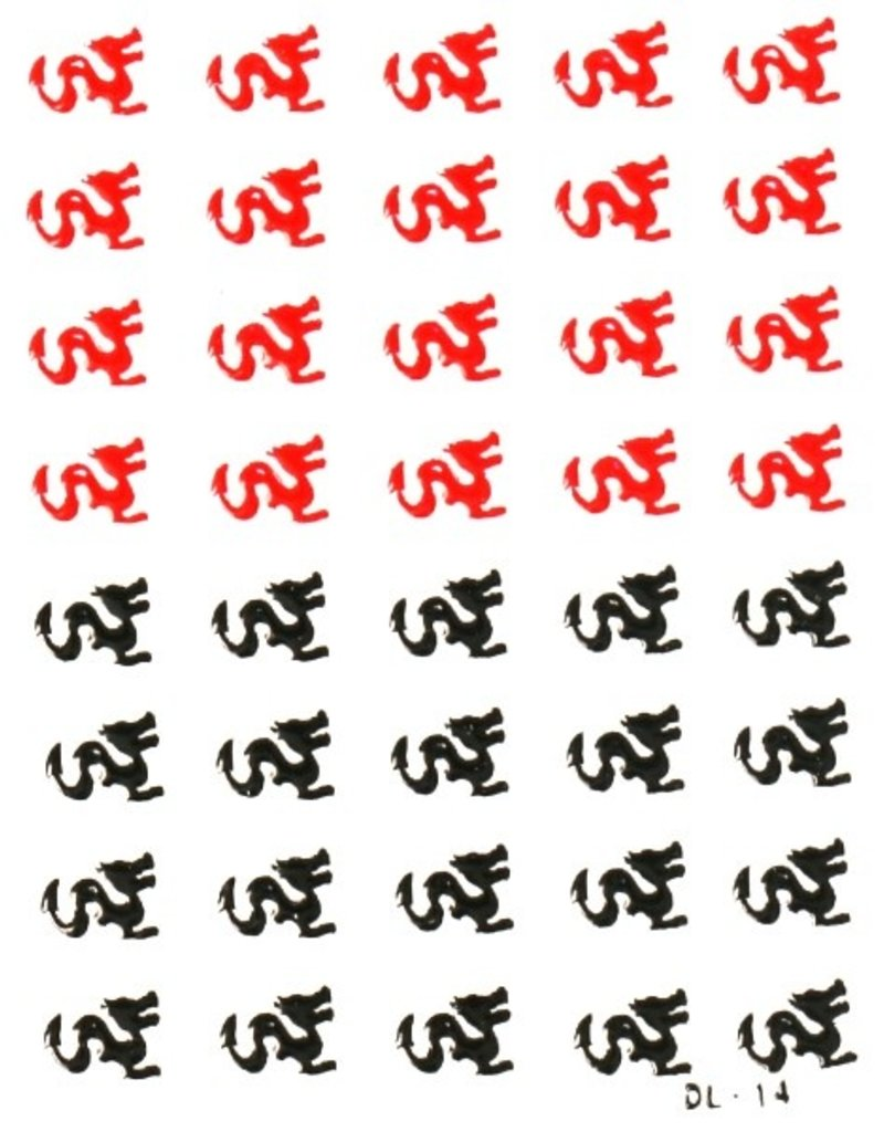 3D Sticker Dragon Black/Red