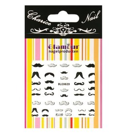 3D Sticker Glitter Mustache