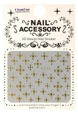 3D Sticker Cross Gold 1
