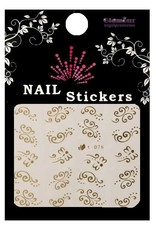 3D Sticker Gold Swirls