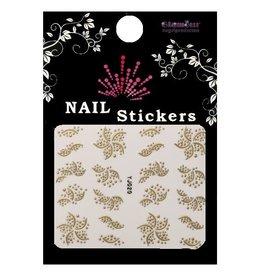 3D Sticker Gold Starflower