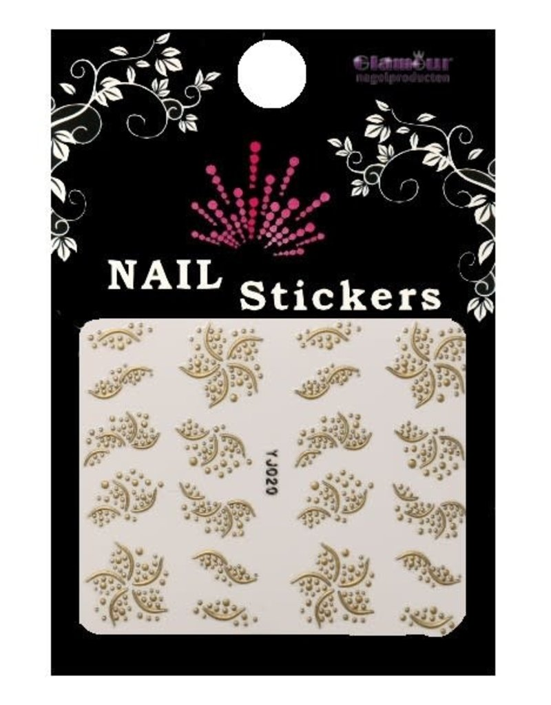3D Sticker Gold Starflower