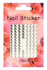 3D Sticker Silver Stripes 2