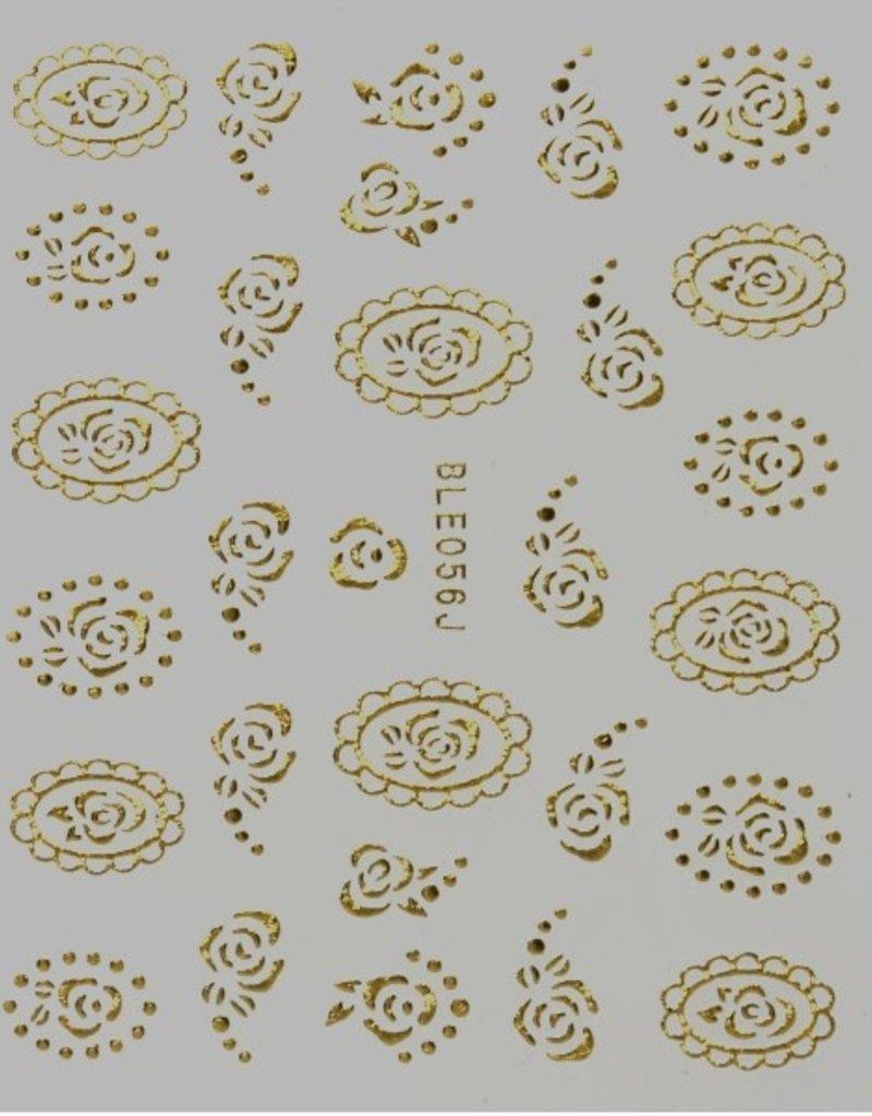 3D Sticker Gold Camee