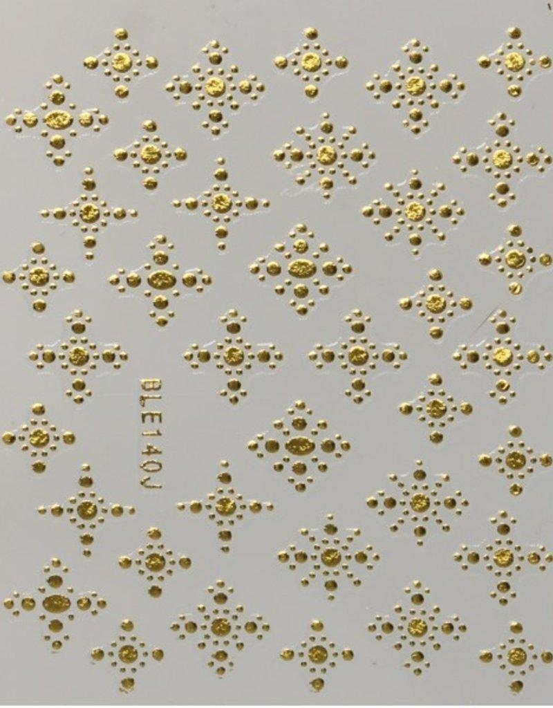 3D Sticker Cross Gold 2