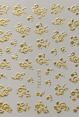 3D Sticker Music Gold