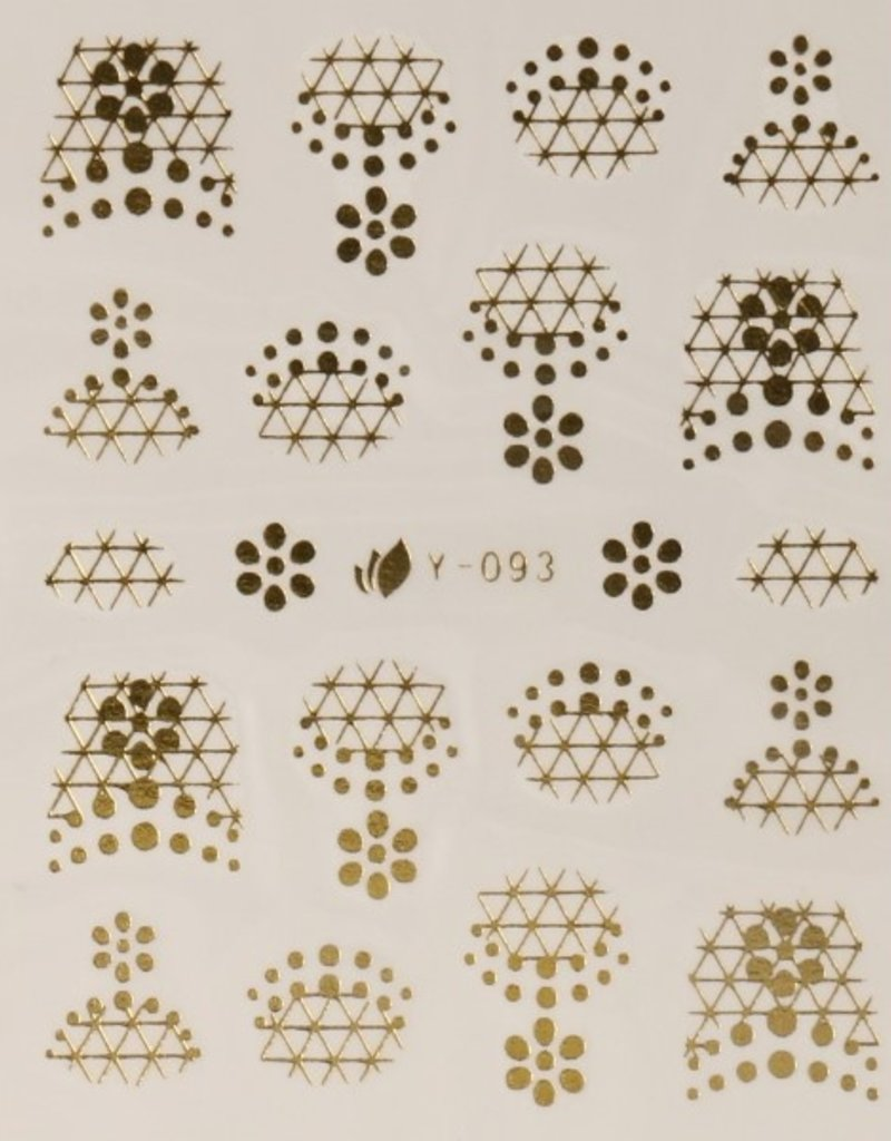 3D Sticker Gold Dots/Swirls