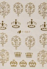 3D Sticker Gold King