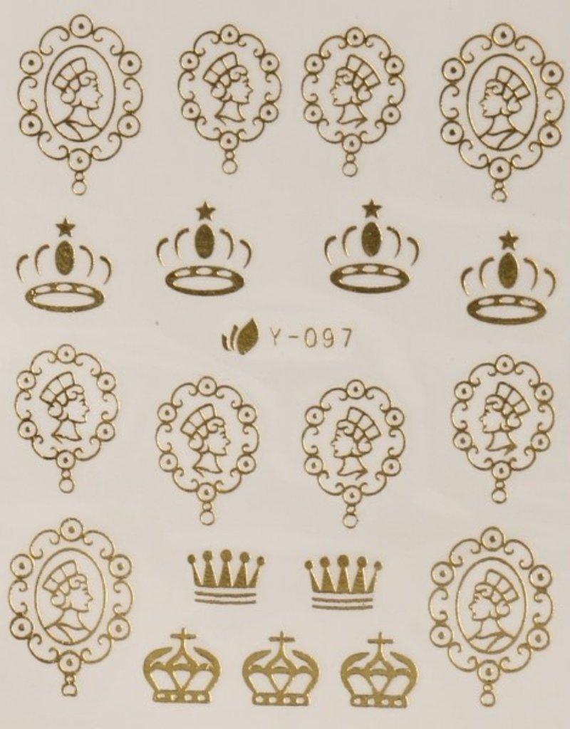 33D Sticker Gold King