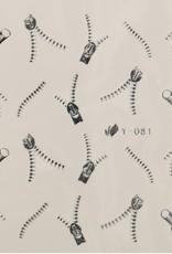 3D Sticker Silver Zipper