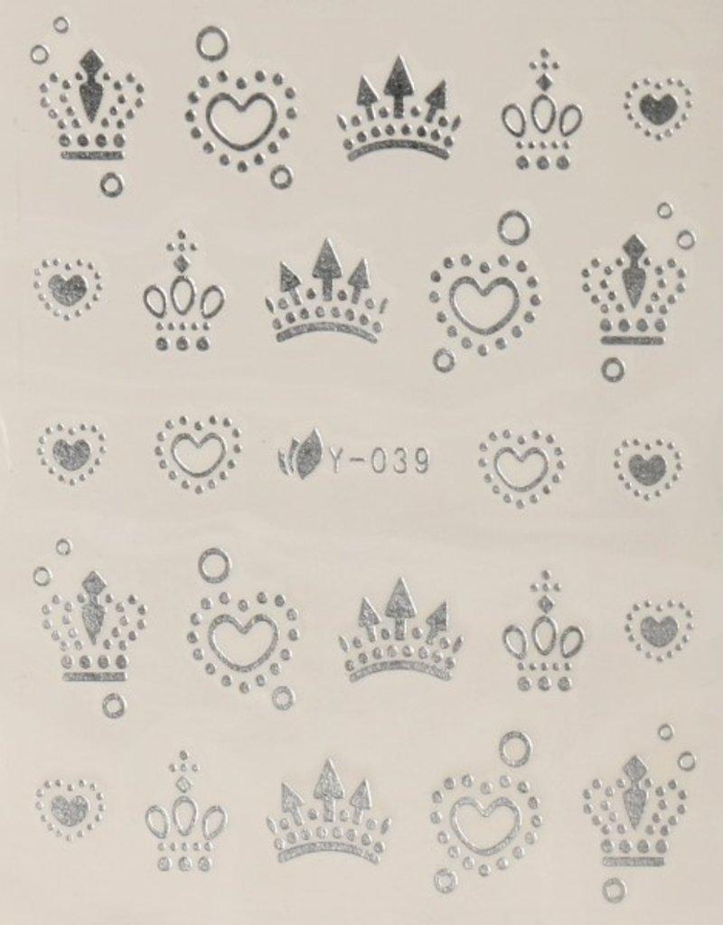 3D Sticker Silver Crown