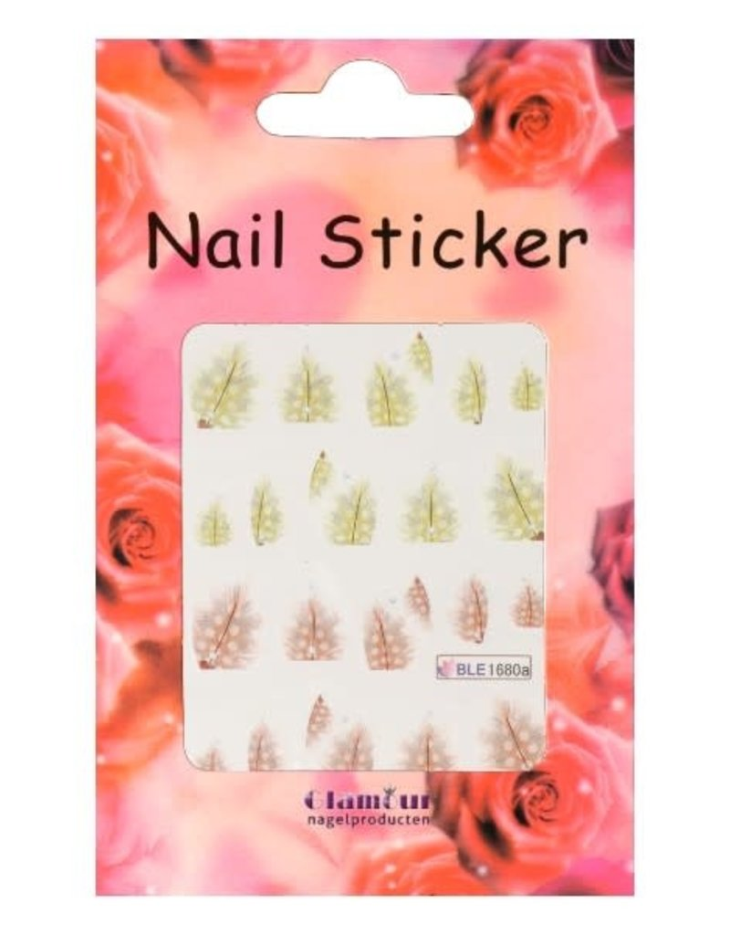 Waterdecal Feather Yellow/Peach