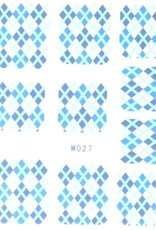 Waterdecal Diamond Blue