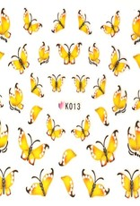Waterdecal Butterfly Yellow