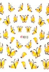 Waterdecal Vlinder Geel
