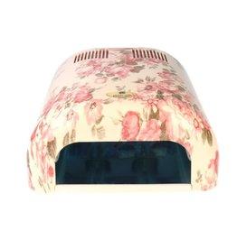 UV-Lamp Wit/Bloem Motief