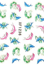 Waterdecal Dolphin Pink/Blue