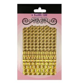 Filigree Chrome Square Closed Gold