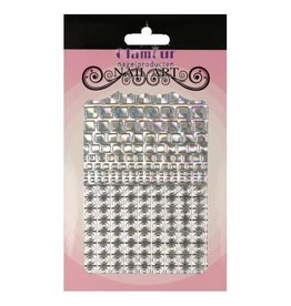 Filigree Chrome Square Closed Silver
