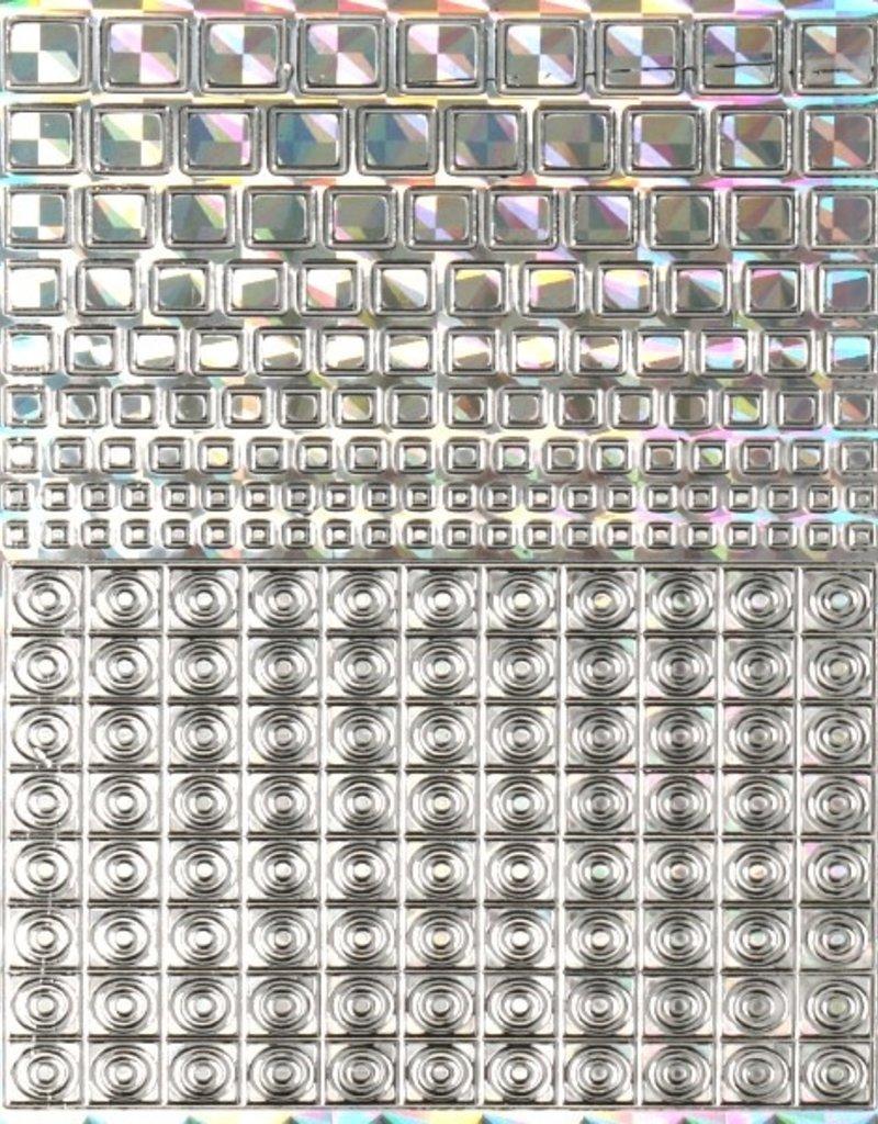 Filigree Chrome Square Dicht Zilver