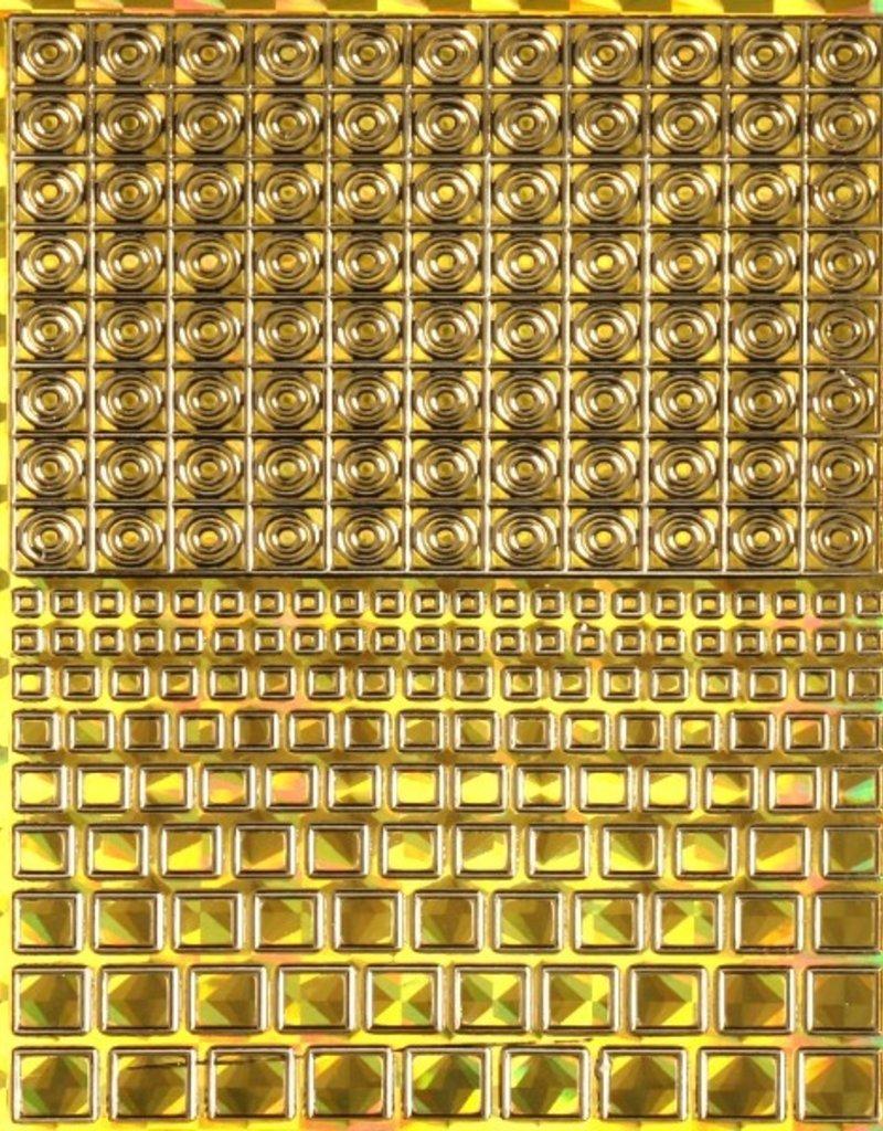 Filigree Chrome Square Closed Gold