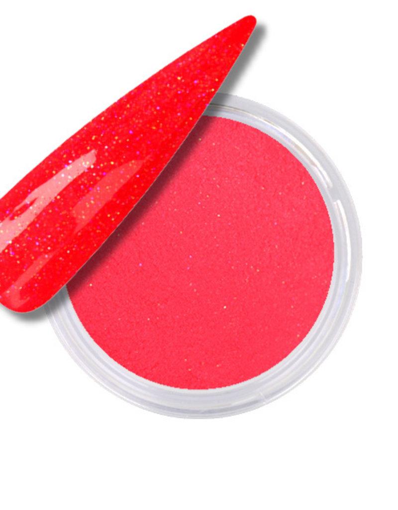 Acrylpoeder Neon Pink Orange Glitter