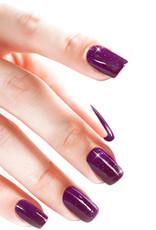 Acrylic Powder Neon Purple Glitter