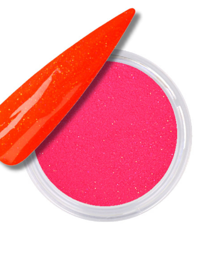 Acrylic Powder Neon Pink Glitter