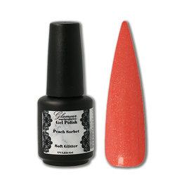 Gel On Soft Glitter Peach Sorbet