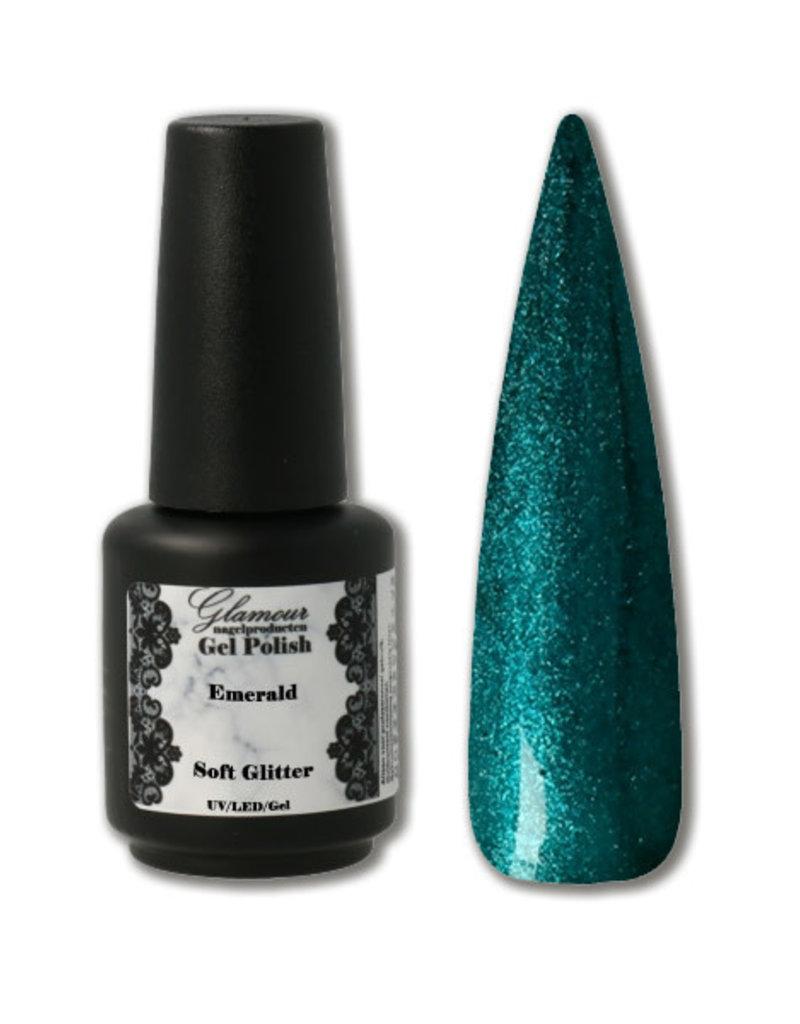 Gel On Soft Glitter Emerald