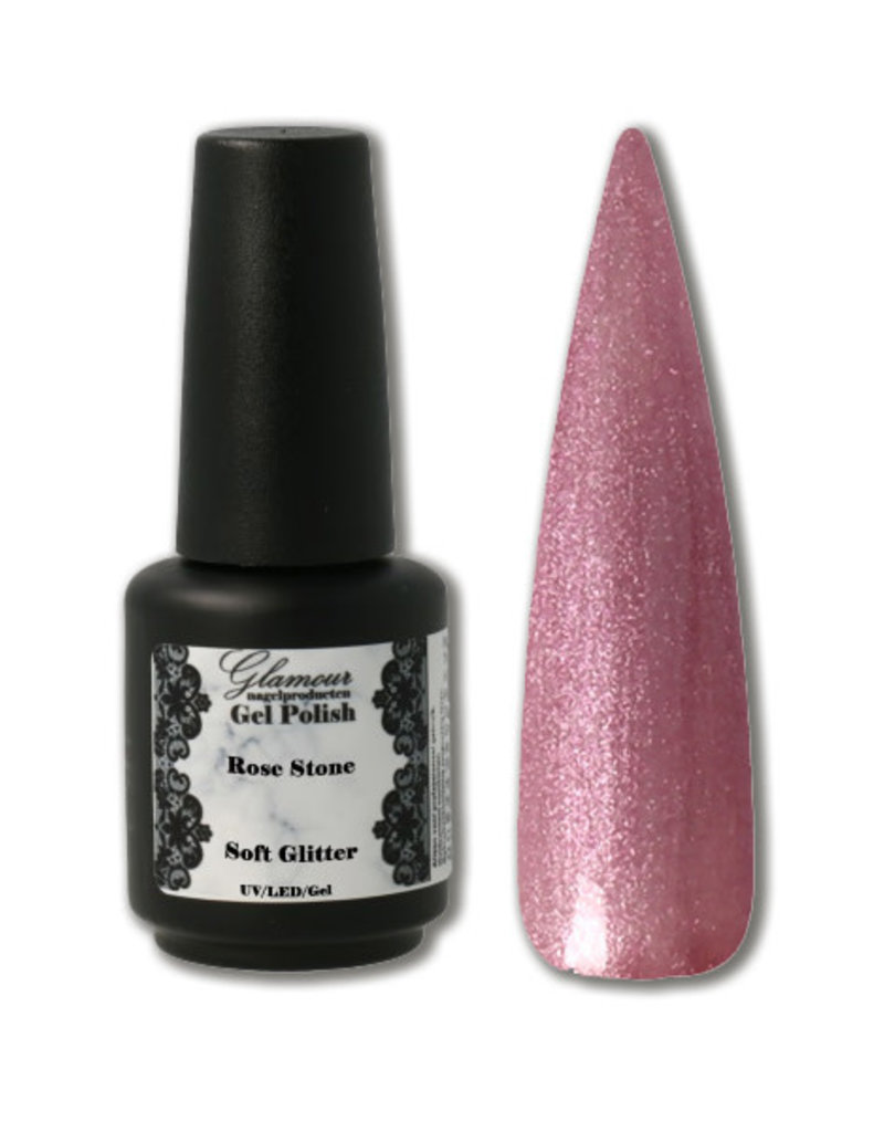 Gel On Soft Glitter Rose Stone