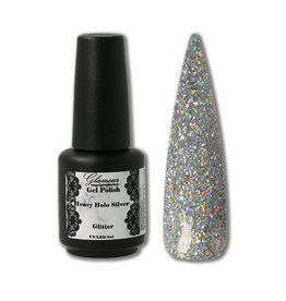 Gel On Heavy Glitter Holo Silver