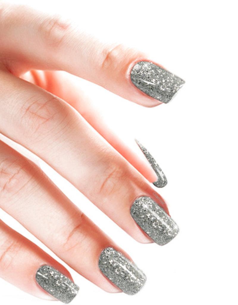 Gel On Heavy Glitter Silver