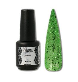 Gel On Glitter Green