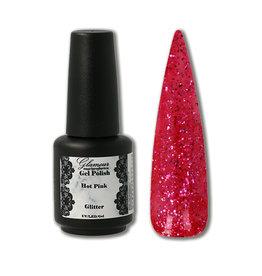 Gel On Glitter Hot Pink