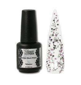 Gel On Splatter Purple Black White