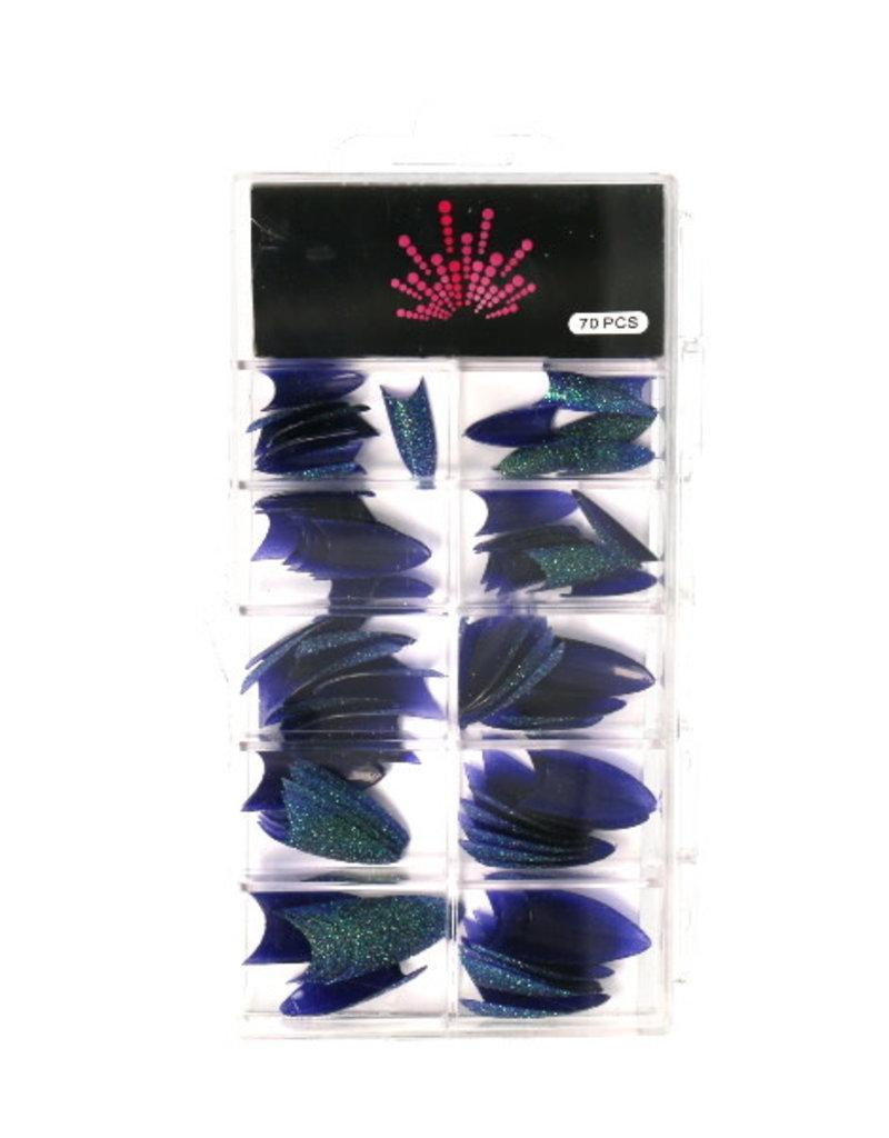 Glitter Stiletto Tips Dark Purple