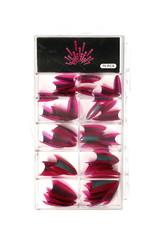 Duotone Stiletto Tips Pink-Silver