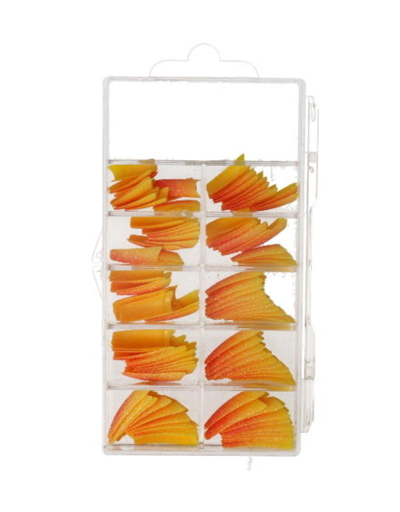 Tips 2-Colors-Glitter Oranje/Geel