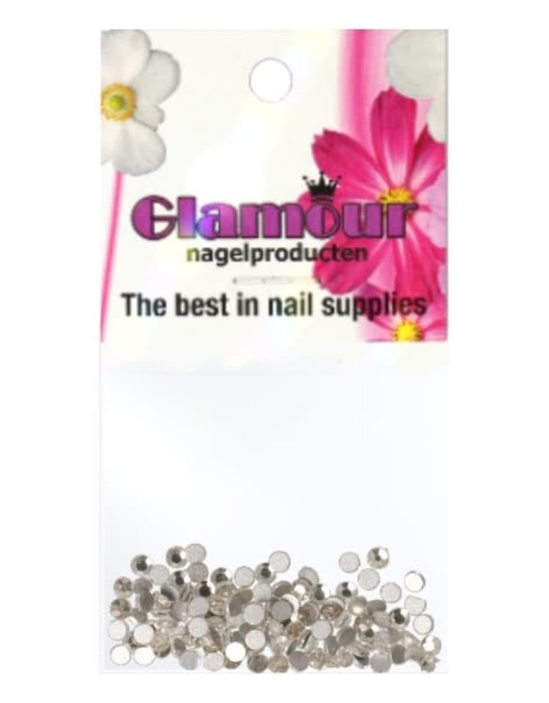 Crystals Silver 2mm